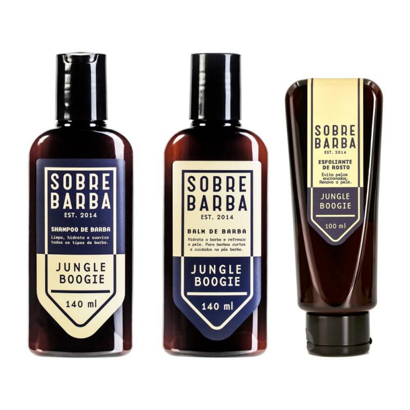 cbe1166bcd Kit Tratamento Barba e Pele Jungle Boogie Sobrebarba   New Old Man