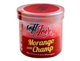 Óleo de Massagem Tri Ball Morango Com Champ Soft Love - 12gr