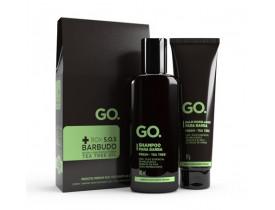 Kit BOX S.O.S Barbudo - Shampoo e Balm para Barba GO. Fresh Tea Tree