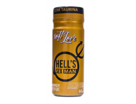 Enérgetico Super Excitante Masculino Hell's Man Soft Love - 60ml