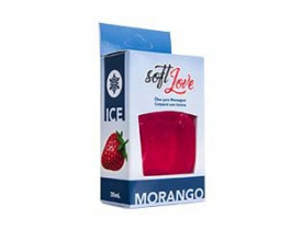 Gel de Massagem Comestível Ice Morango Soft Love | New Old Man