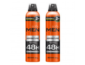 Kit 2 Desodorante Aerosol Men Adventure Soffie - 300ml | New Old Man