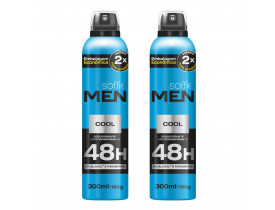 Kit 2 Desodorante Aerossol Men Cool Soffie - 300ml