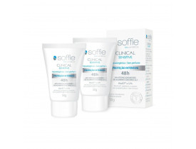 Kit 2 Desodorante Antitranspirante em Creme Clinical Sensitive Soffie