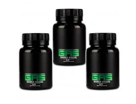 Kit 3 Suplemento Vitamínico Gas Para Crescimento de Cabelo e Barba - Barba Brasil