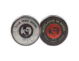 Kit Barba - Balm Para Barba e Modelador Para Barba - Barba de Respeito