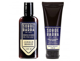 Kit Shampoo Para Barba e Condicionador Para Barba Jungle Boogie Sobrebarba