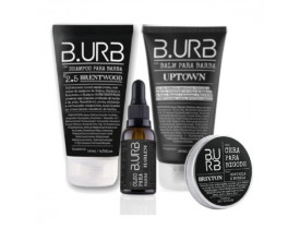 Kit Shampoo, Balm, Óleo Para Barba e Cera de Bigode Black Barba Urbana - B.Urb | New Old Man