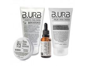 Kit Shampoo, Balm, Óleo Para Barba e Cera de Bigode White Barba Urbana - B.Urb