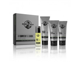 Kit Completo Fresh Wood - Shampoo, Balm, Óleo e Esfoliante Para Barba Barba Brava | New Old Man