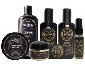 Kit Shampoo, Balm, Óleo, Cera, Pasta Esfoliante, Pomada e Shampoo Ice Fuel4men | New Old man