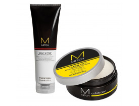 Kit Modelador Clean Cut + Limpeza Profunda  Mitch Paul Mitchell | New Old Man