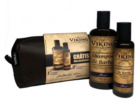 Kit Necessaire Shampoo e Condicionador Para Barba Mar - Viking