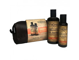 Kit Necessaire Shampoo e Condicionador Para Barba Terra Viking | New Old Man