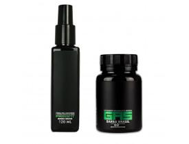 Kit Crescimento de Barba - Tônico e Suplemento Vitamínico GAS - Barba Brasil