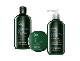 Kit Paul Mitchell Tea Tree Lavander + Cera Para Cabelo Shaping Cream | New Old Man
