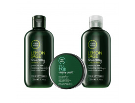 Kit Paul Mitchell Tea Tree Lemon Sage + Cera Para Cabelo Shaping Cream | New Old Man