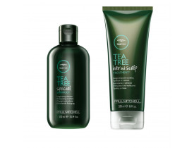 Kit Tea Tree Shampoo Special e Gel de Esfoliação Tea Tree Hair and Scalp Paul Mitchell