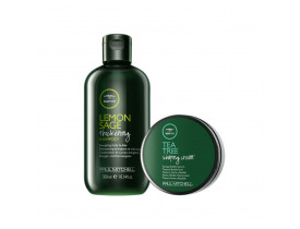 Kit Paul Mitchell Tea Tree Shampoo Lemon Sage + Cera Para Cabelo Shaping Cream | New Old Man