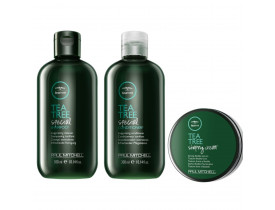 Kit Paul Mitchell Tea Tree Special + Cera Para Cabelo Shaping Cream | New Old Man