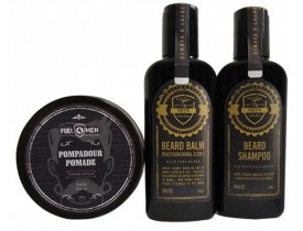 Kit Shampoo, Balm e Pomada Fuel4men