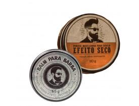 Kit Pomada Para Cabelo Efeito Seco e Balm Para Barba - Barba de Respeito