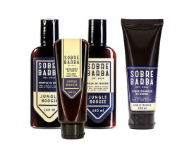 Kit Shampoo, Balm, Condicionador e Esfoliante Para Barba Jungle Boogie Sobrebarba