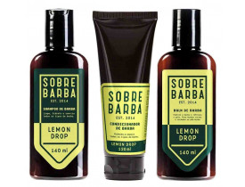 Kit Barba Shampoo, Balm e Condicionador Para Barba Lemon Drop Sobrebarba | New Old Man