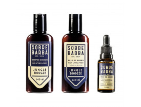 Kit Shampoo, Balm e Óleo Para Barba Jungle Boogie Sobrebarba