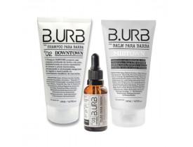 Kit Shampoo, Balm e Óleo Para Barba White Barba Urbana - B.Urb | New Old Man