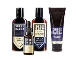Kit Shampoo, Balm, Óleo e Condicionador Para Barba Jungle Boogie Sobrebarba