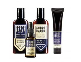 Kit Shampoo, Balm, Óleo e Modelador Para Barba Jungle Boogie Sobrebarba | New Old Man