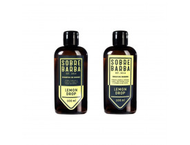 Kit Barba Shampoo e Balm Para Barba Lemon Drop Para Viagem | New Old Man