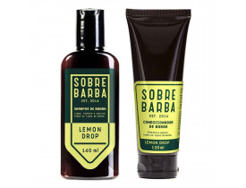 Kit Barba Shampoo e Condicionador Para Barba Lemon Drop Sobrebarba | New Old Man
