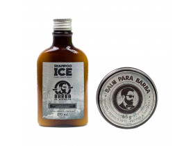 Kit Shampoo Ice e Balm Barba de Respeito | New Old Man