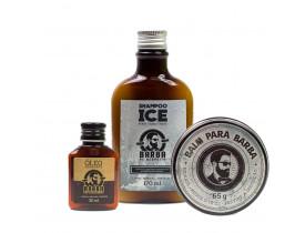 Kit Shampoo Ice, Balm e Óleo Barba de Respeito