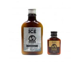 Kit Shampoo Ice e Óleo Barba de Respeito | New Old Man
