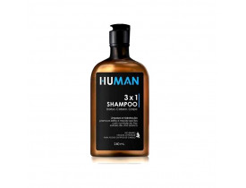 Shampoo 3x1 Barba, Cabelo e Corpo Human - 240 ml | New Old Man